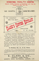 Advert For Clarke's Coffee Extract